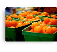 Farmers Market Baby Tomatoes Canvas Print