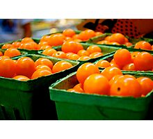 Farmers Market Baby Tomatoes Photographic Print