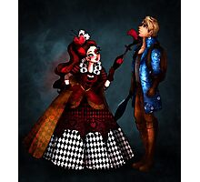 Yes, your majesty! - Lizzie Hearts & Alistair Wonderland Photographic Print