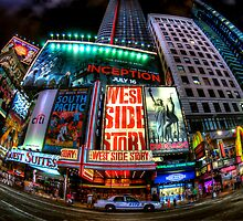 Fisheye on Broadway by Randy  LeMoine