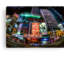 Fisheye on Broadway Canvas Print