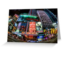 Fisheye on Broadway Greeting Card
