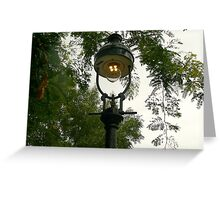 gas lamp with mantles Greeting Card