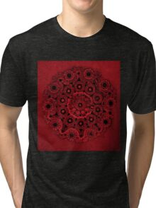 Doily Joy Mandala- Deep Roots Tri-blend T-Shirt