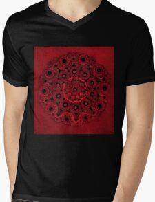 Doily Joy Mandala- Deep Roots Mens V-Neck T-Shirt