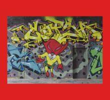 Superbunny Graffiti Vienna Austria Kids Tee