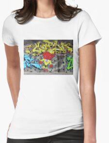 Superbunny Graffiti Vienna Austria Womens Fitted T-Shirt