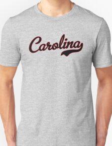 Carolina Script Black Garnet Outline T-Shirt