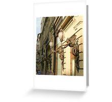 Gargoyle lamps Greeting Card
