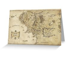 Middle Earth Map Greeting Card