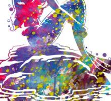 The Little Mermaid Ariel Silhouette Watercolor Sticker