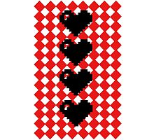 8 bit hearts  Photographic Print