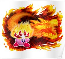 Fire Kirby Poster