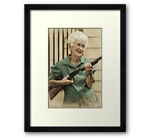 Granny Get Your Gun! Framed Print