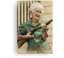 Granny Get Your Gun! Canvas Print