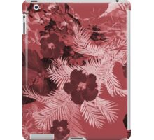 Tropical in red iPad Case/Skin