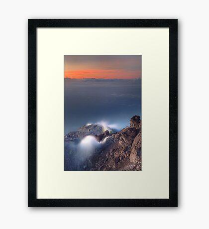 Venting volcano Framed Print