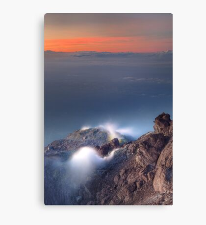 Venting volcano Canvas Print
