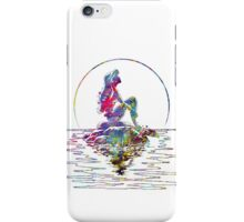 The Little Mermaid Ariel Silhouette Watercolor iPhone Case/Skin