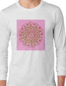 Doily Joy Mandala- Spring Bloom Long Sleeve T-Shirt