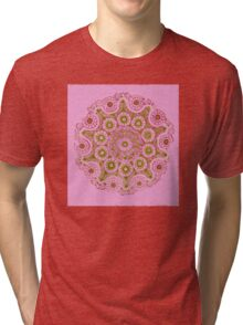 Doily Joy Mandala- Spring Bloom Tri-blend T-Shirt