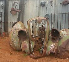 Old car parts out at Silverton near Broken Hill by Juilee  Pryor