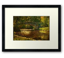 A Country Bridge Framed Print