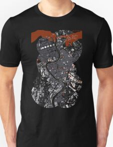Rome city map engraving Unisex T-Shirt