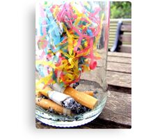 Cigarettes and Streamers. Canvas Print