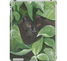 Black Panther in the Jungle (green, black) iPad Case/Skin
