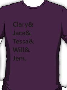 Clary & Jace & Tessa & Will & Jem T-Shirt