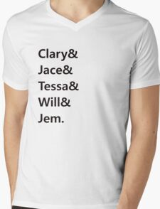 Clary & Jace & Tessa & Will & Jem Mens V-Neck T-Shirt