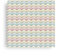 Pastel Chevron Canvas Print