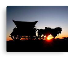 Riding into the Sunset... Canvas Print