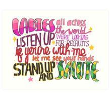 Salute Lyric Art Art Print