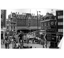 Hustle and Bustle - Victoria Station London Poster