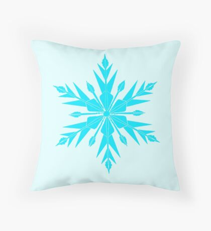 Frozen Fractals Throw Pillow