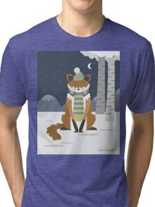 Fox in the snow Tri-blend T-Shirt