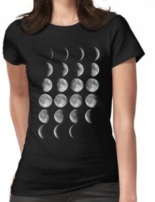 Moon Phases Womens Fitted T-Shirt