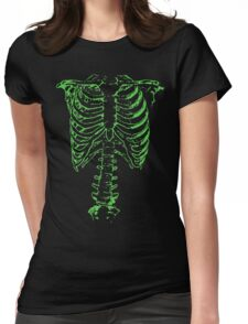 Green Ribcage  Womens Fitted T-Shirt