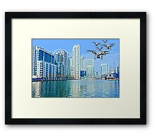 Drone swarm over the Docklands! Framed Print