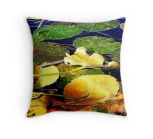 Water lily pads - Esk River - fractalius Throw Pillow