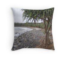Pandanas Tree - Convent Beach - Yamba Throw Pillow