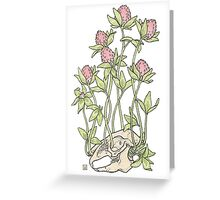 Red Clover All Over Greeting Card