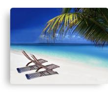 Relax at the Beach  Canvas Print