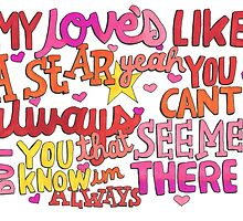 My Love's Like A Star Lyric Art by iamofirg