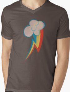 Painted Rainbow Mens V-Neck T-Shirt