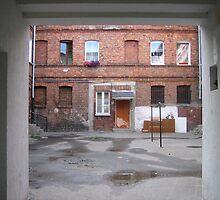 Kamionek courtyard in Warsaw, Poland by Lukasz Godlewski