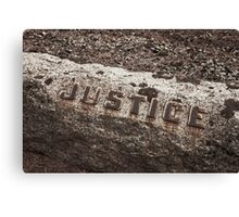 Justice is Dead Canvas Print