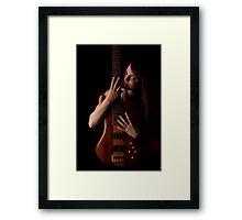 Love da Bass Framed Print